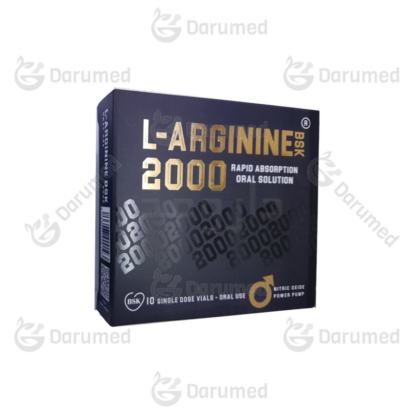 محلول خوراکی ال-آرژینین بی اس کی 2000 بسته 10 عددی